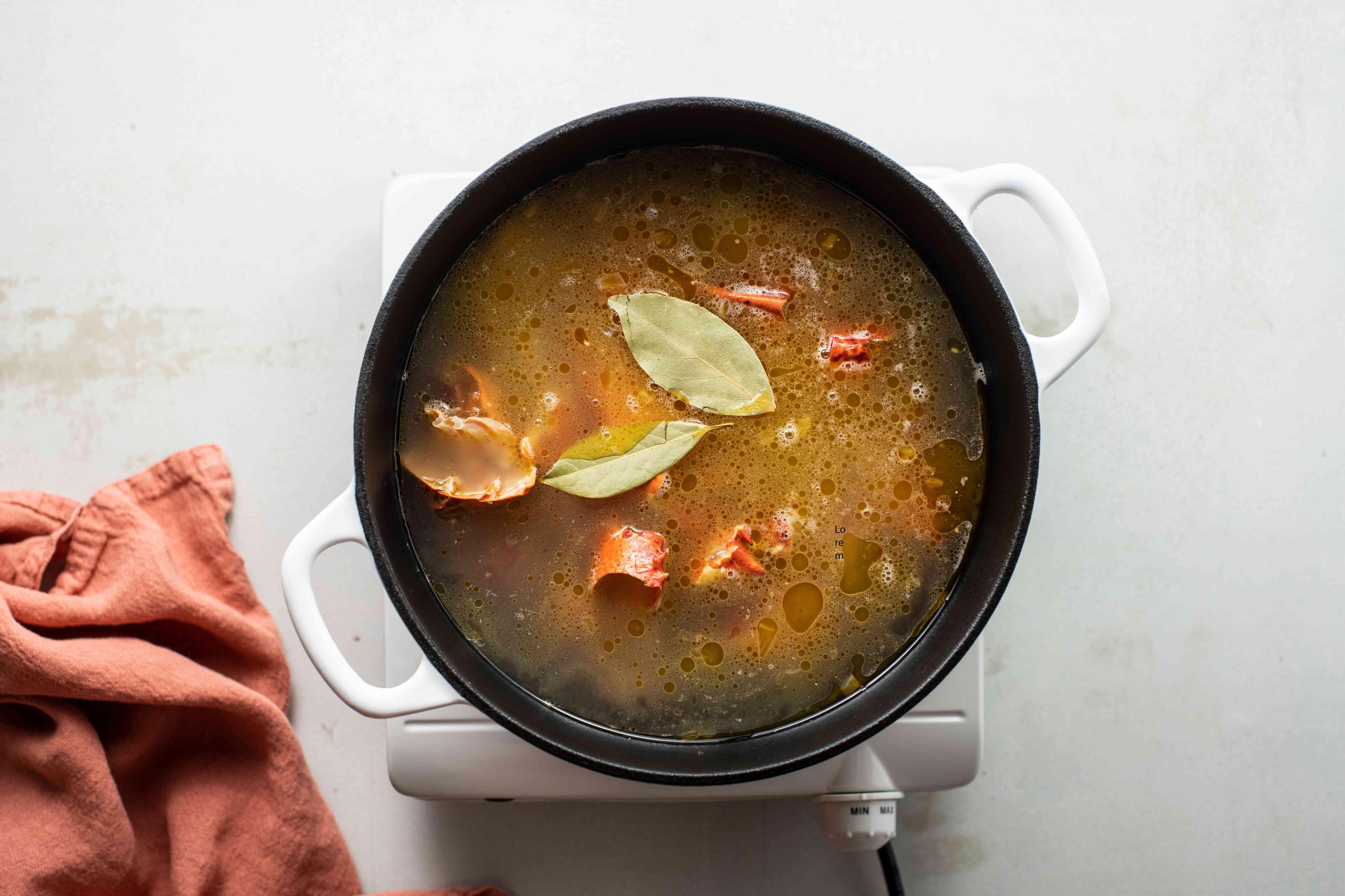 Stir in fish broth