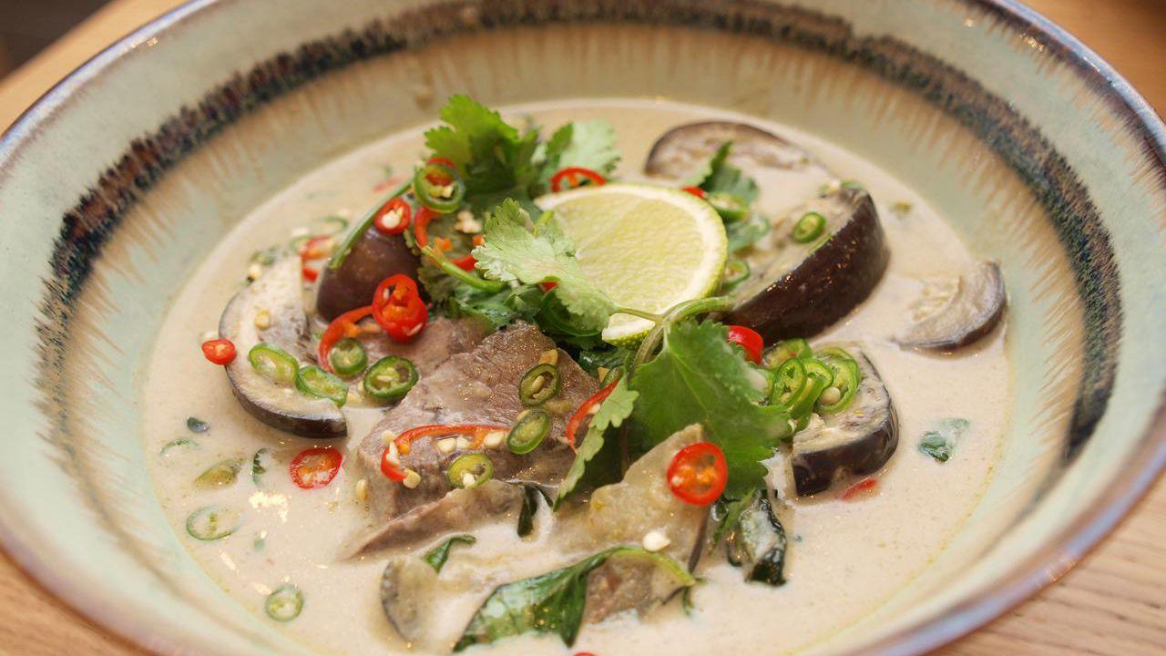 Vegetarian Thai Green Curry Recipe Eggplant   Image Of Food Recipe