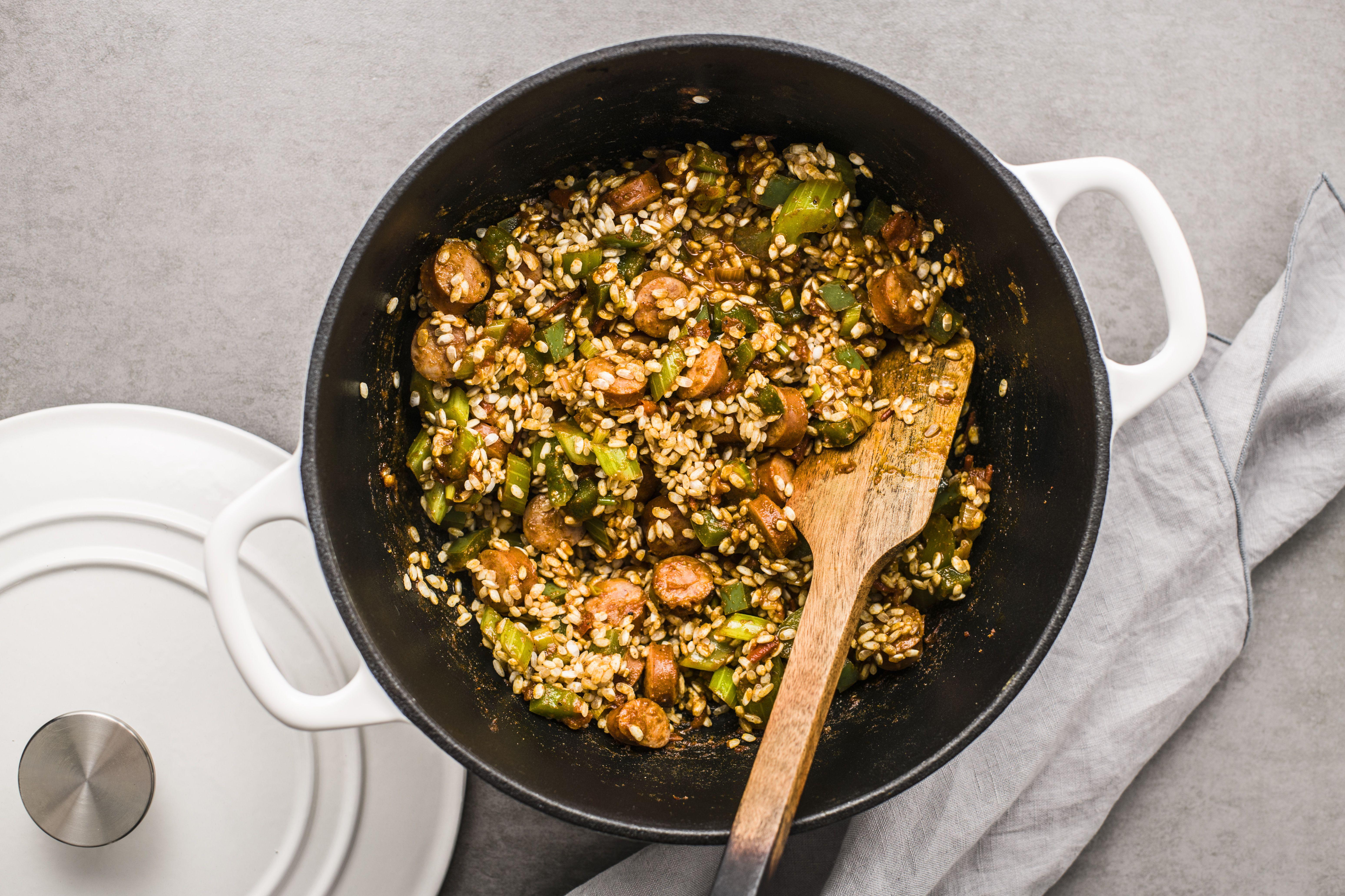 Stir in brown rice