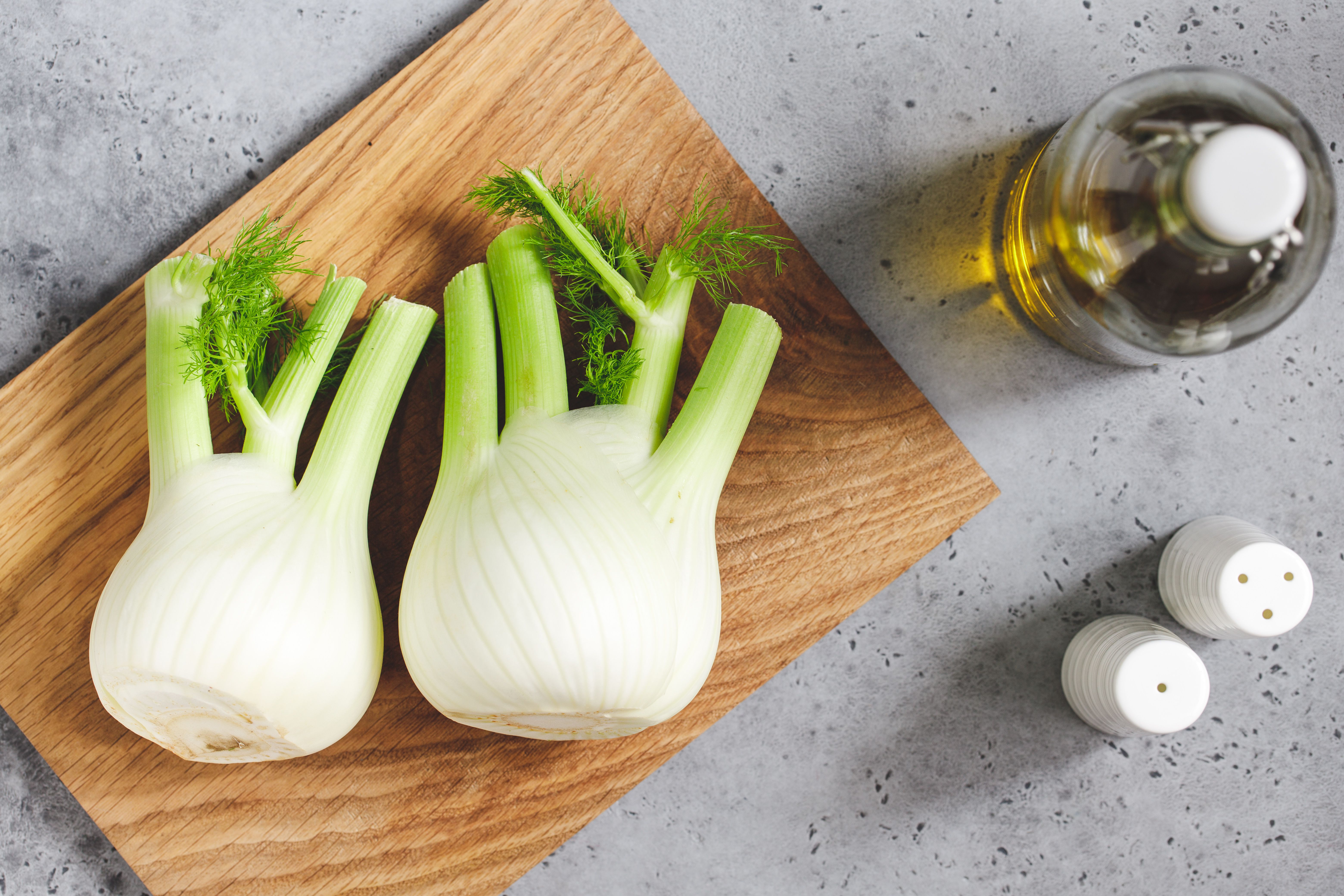 Ingredients for roasted fennel