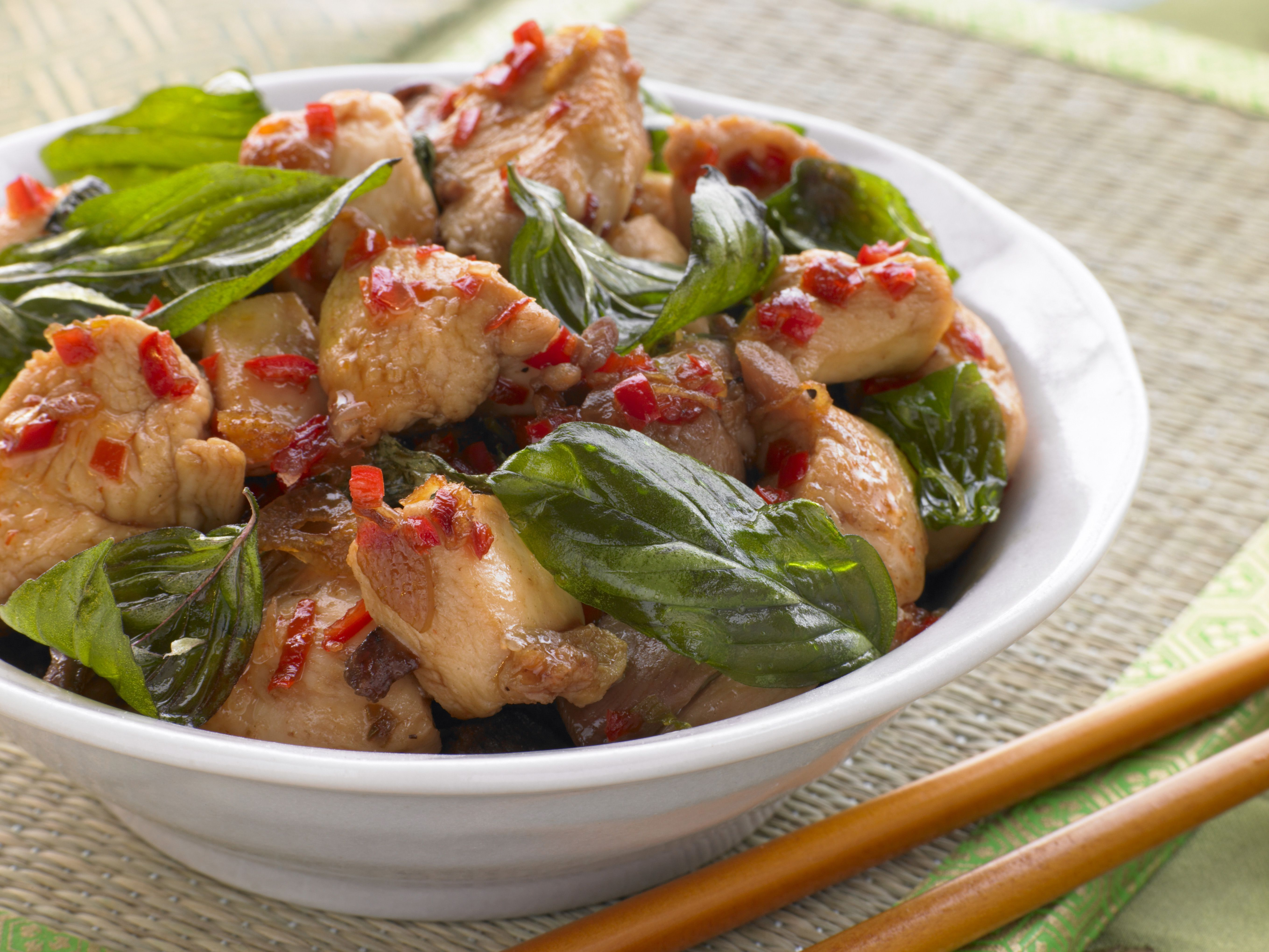 Chicken with Sweet Chilli and Thai Basil