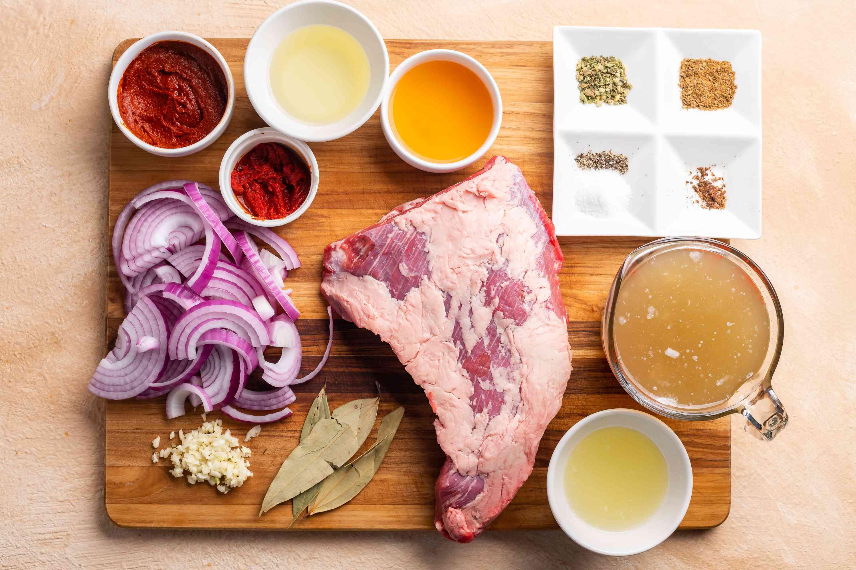 Easy Barbacoa ingredients