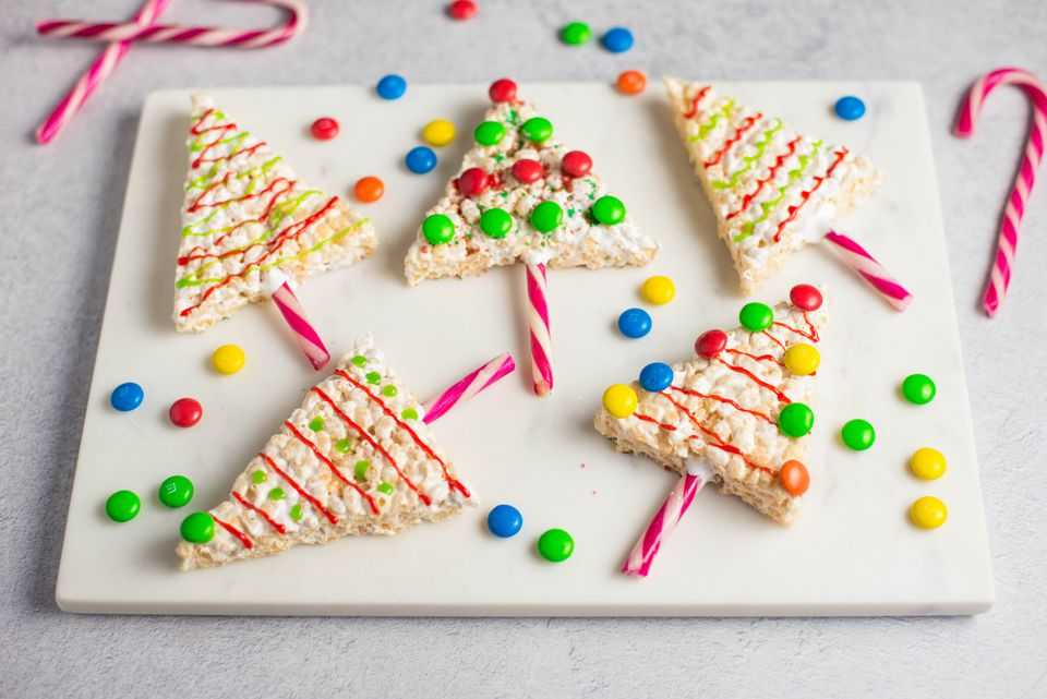 Christmas rice crispy treats recipe