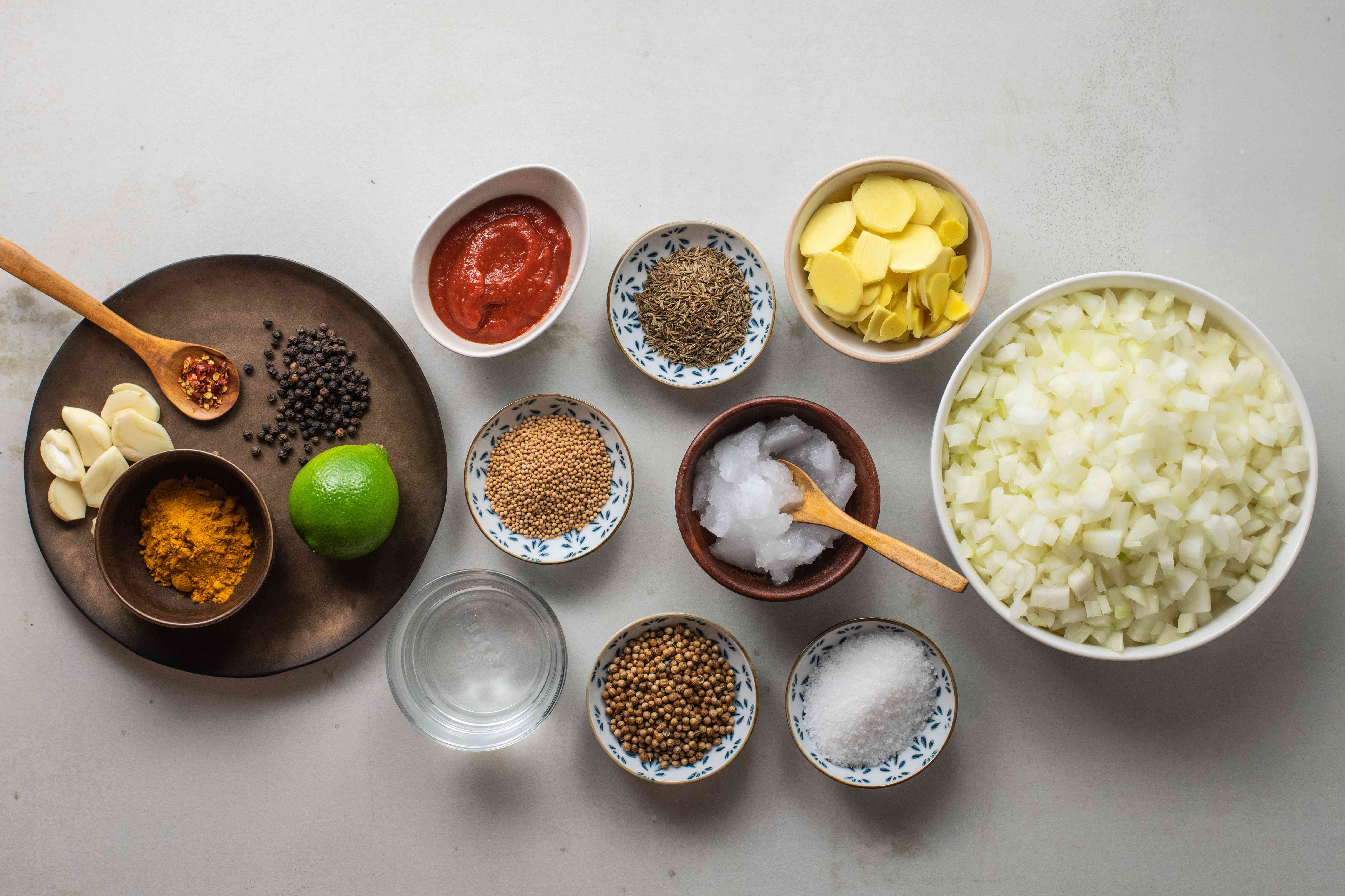 Ingredients for curry flavor bombs