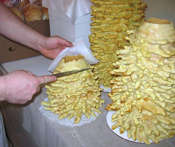 Lithuanian Tree Cake Is Cut Horizontally