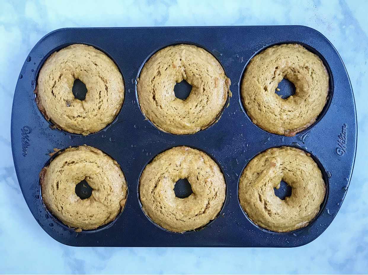 Bake the doughnuts