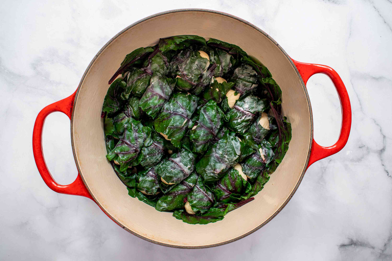 let the beet leaf dough filling double