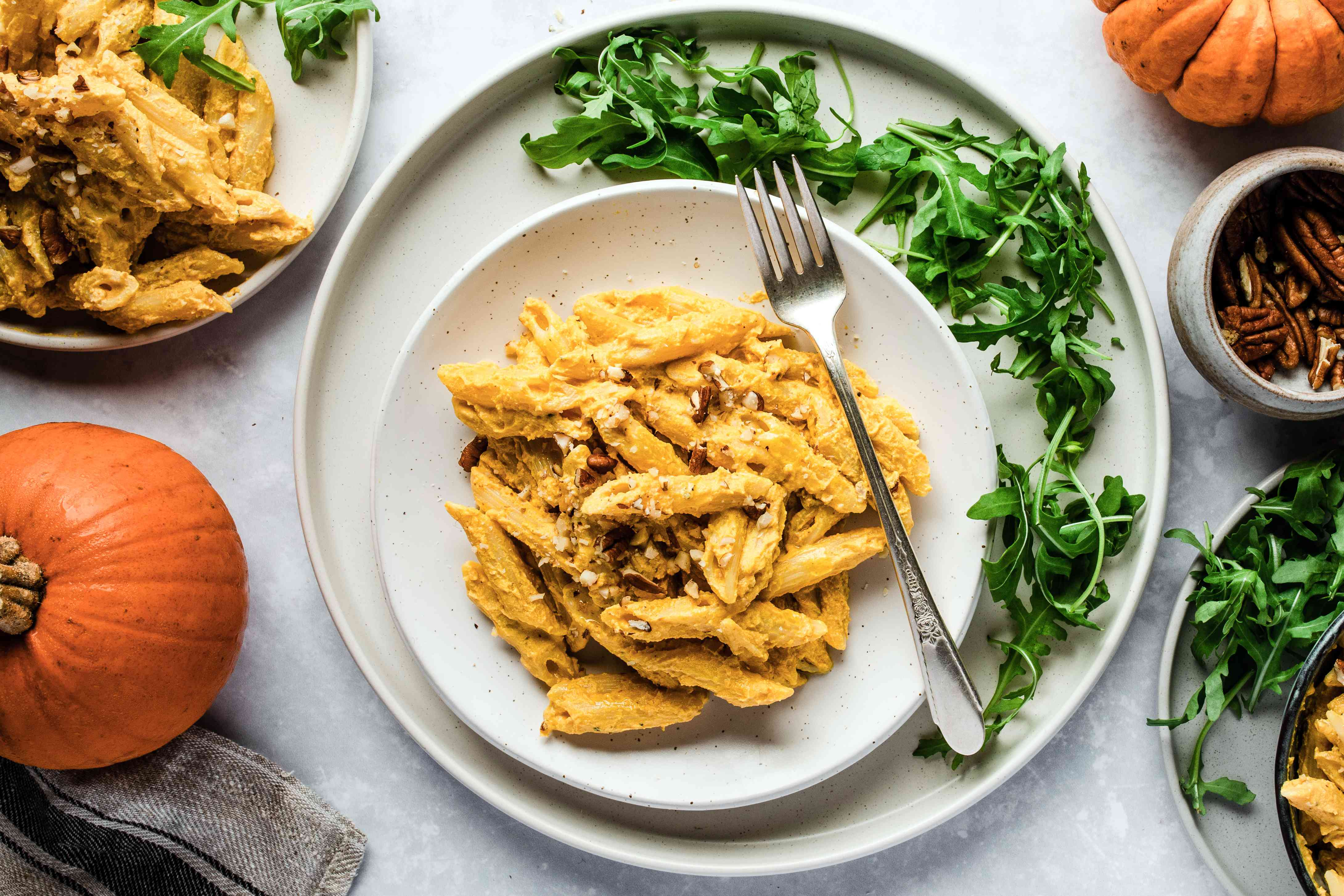 Pumpkin pecan penne recipe
