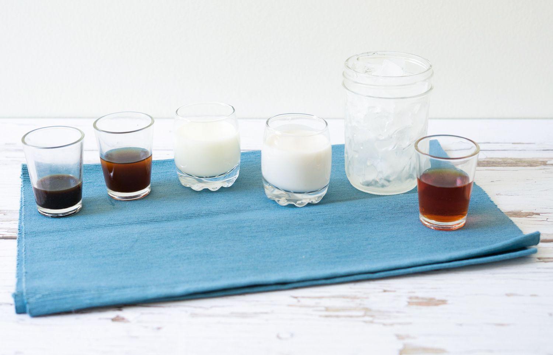 Ingredients for the bushwacker alcoholic milkshake