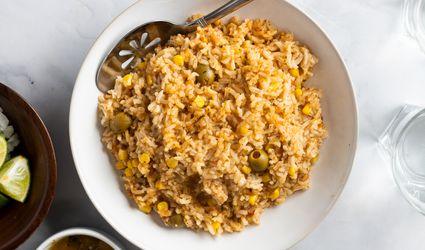 Arroz Amarillo con Maíz (Yellow Rice With Corn)