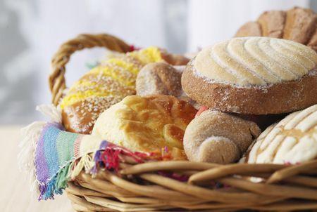 Pan dulce in a basket c206ec09bec70