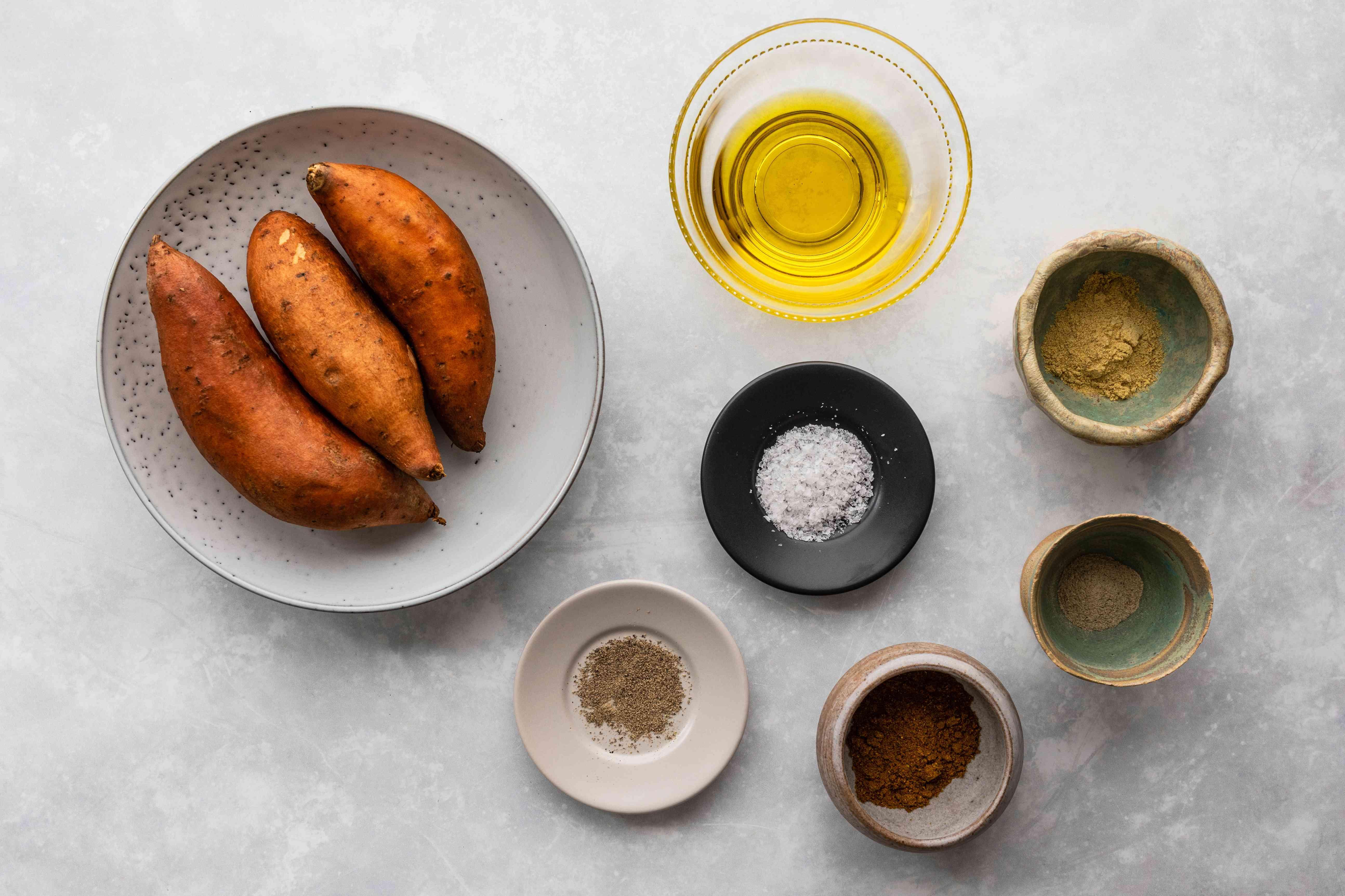 Ingredients for sweet potatoes