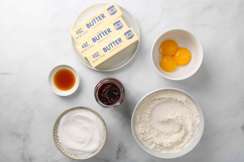 6-Ingredient Jam Thumbprint Cookies ingredients