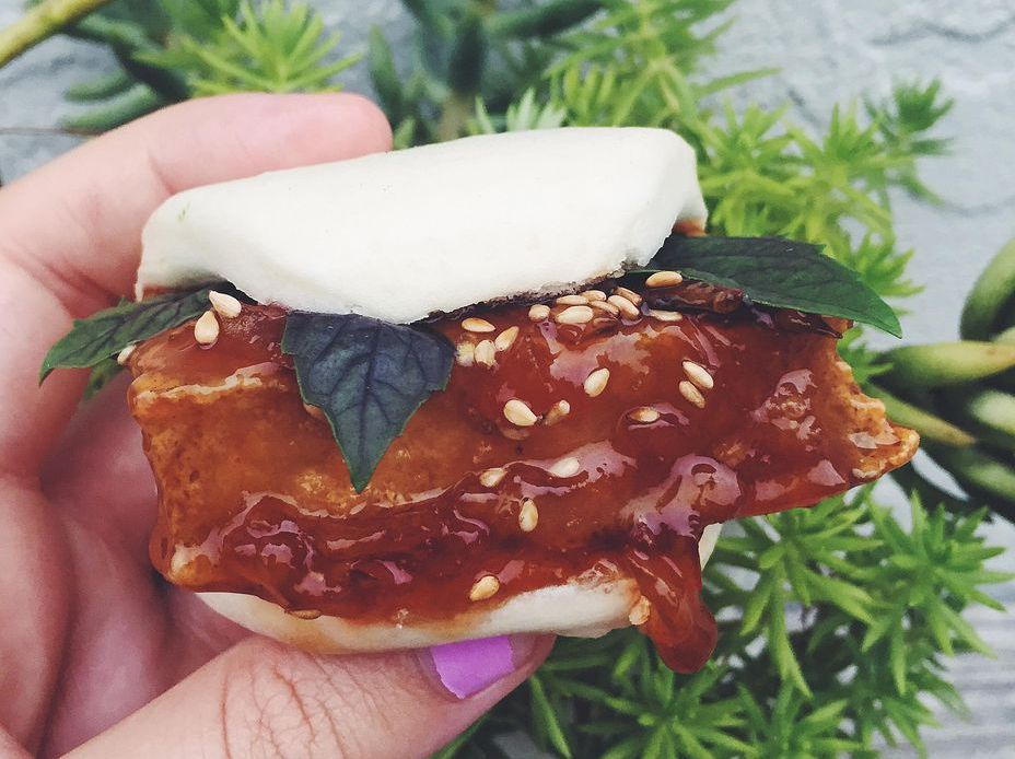 Vegetarian Steamed Buns With Sesame