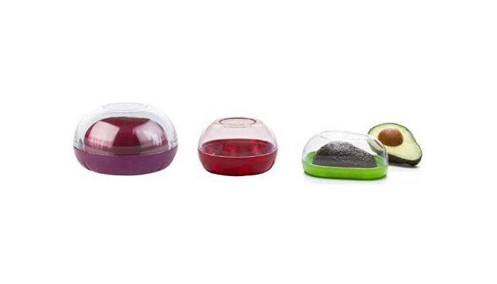 Progressive International Onion, Tomato, and Avocado Keeper Set