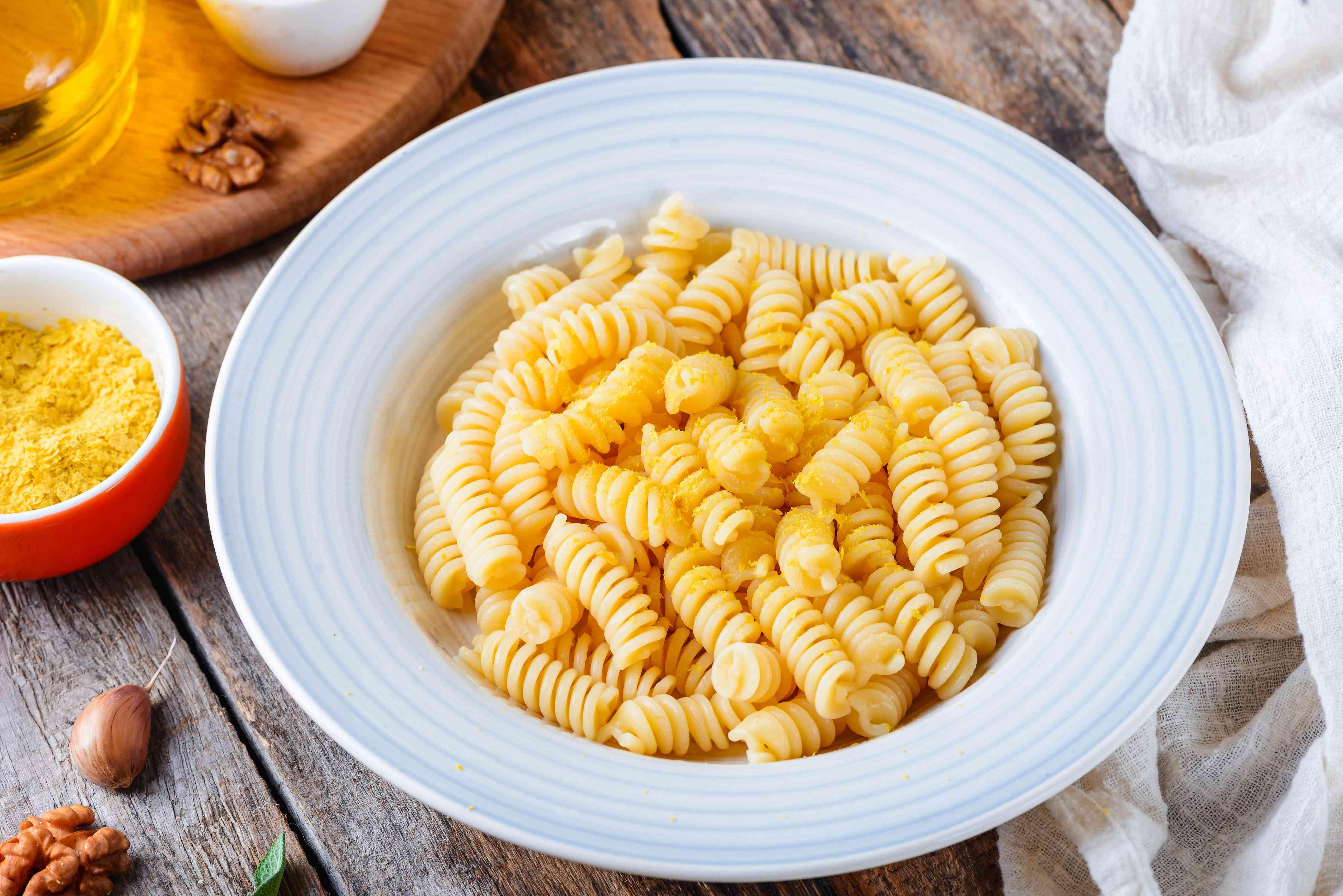 Sprinkle top of pasta