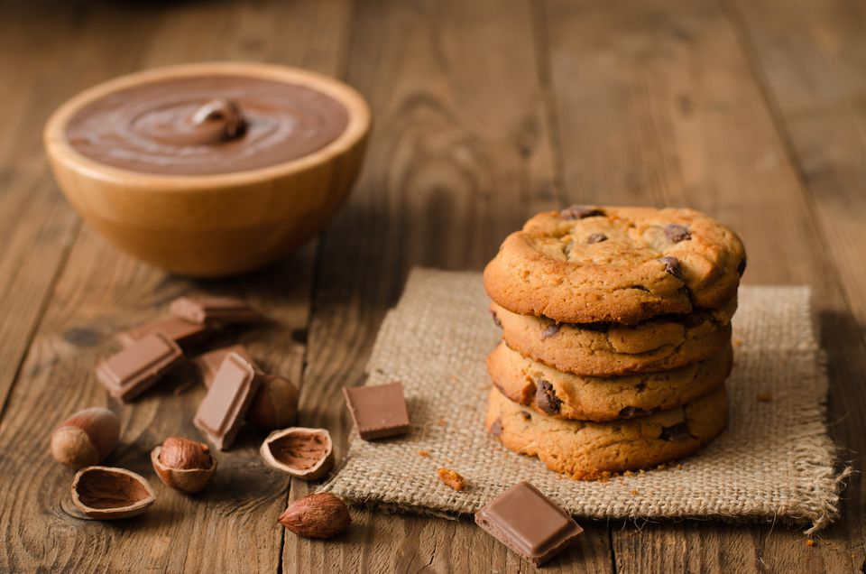 Galletas de chocolate con chispas de avellana