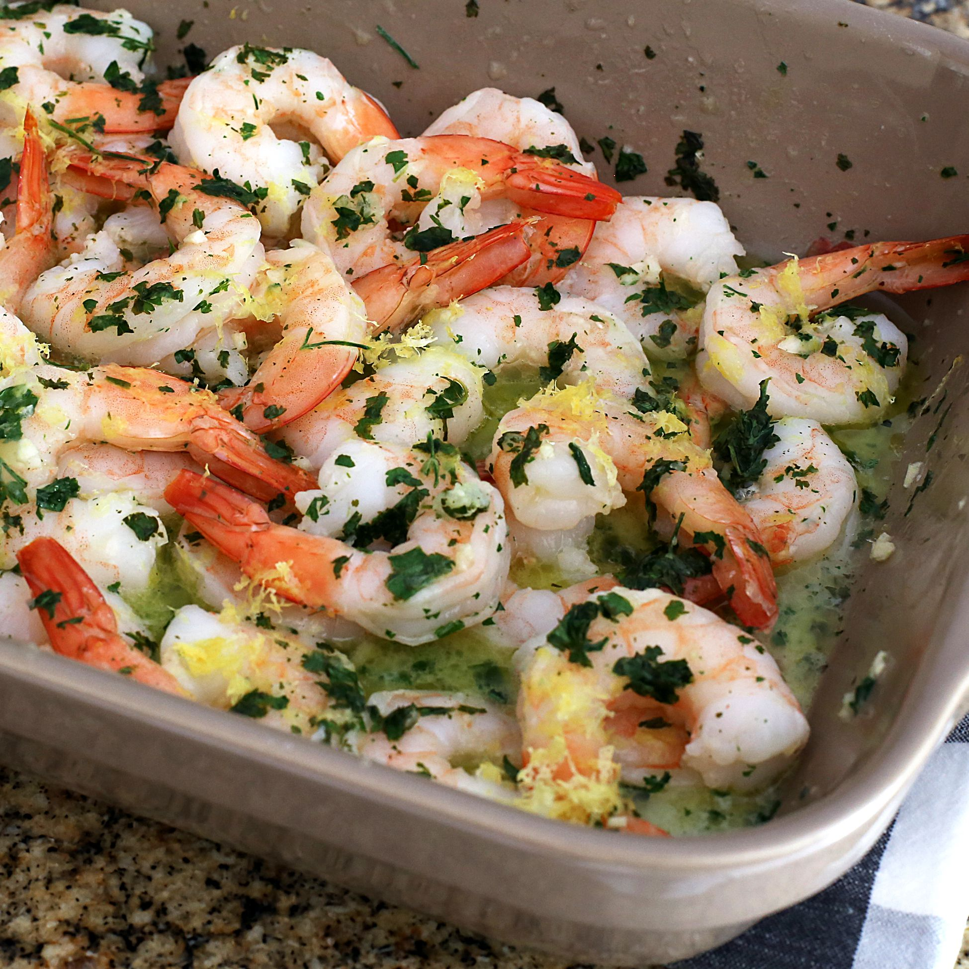 Baked Shrimp Scampi With Lemon and Garlic