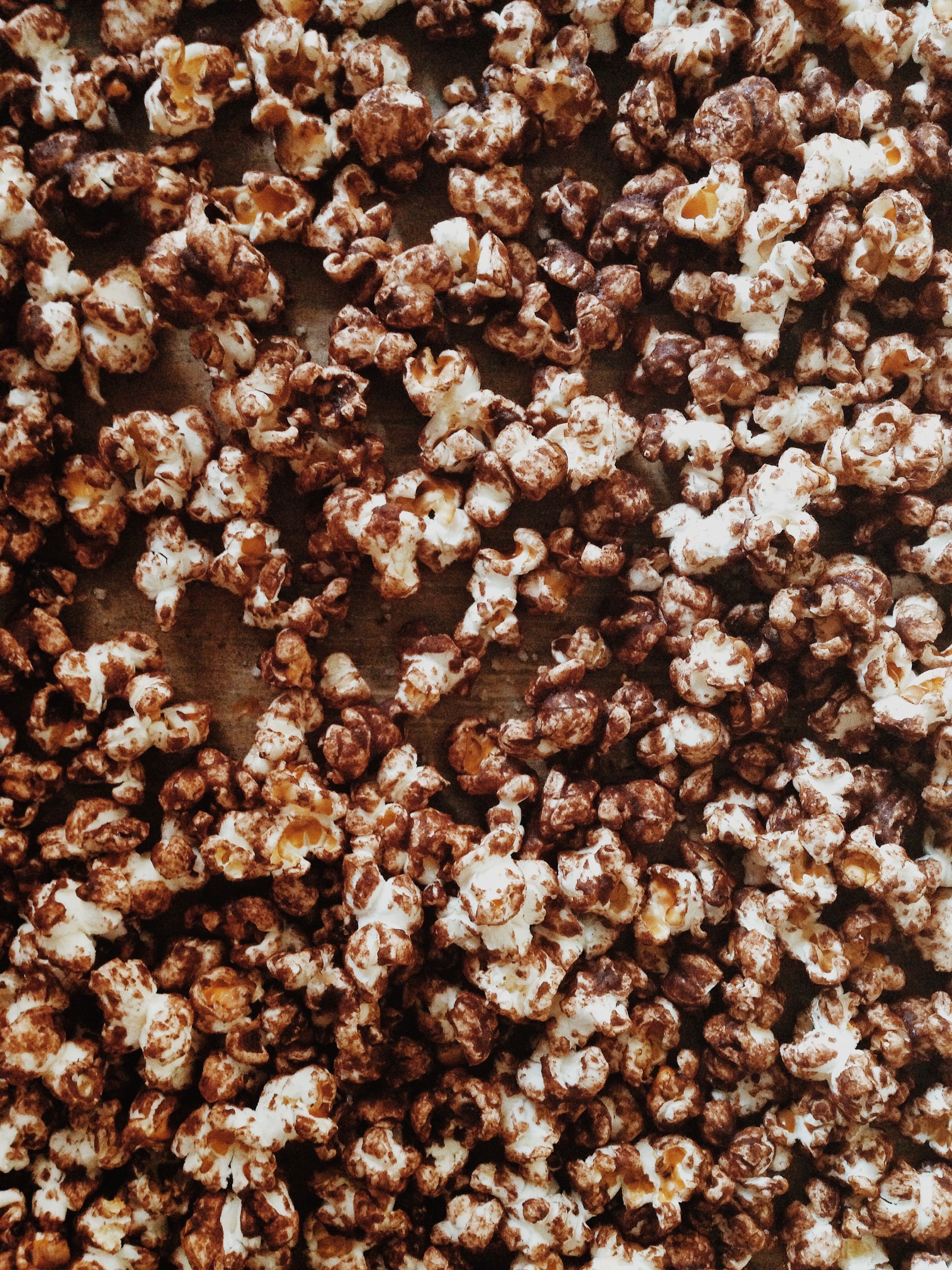 Crunchy, salty and sweet chocolate popcorn - the ultimate snack
