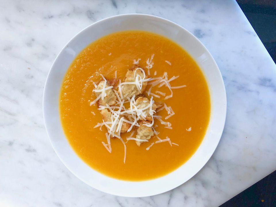 sopa de calabaza de invierno (con variaciones)