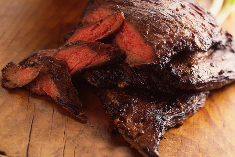 A marinated flank steak