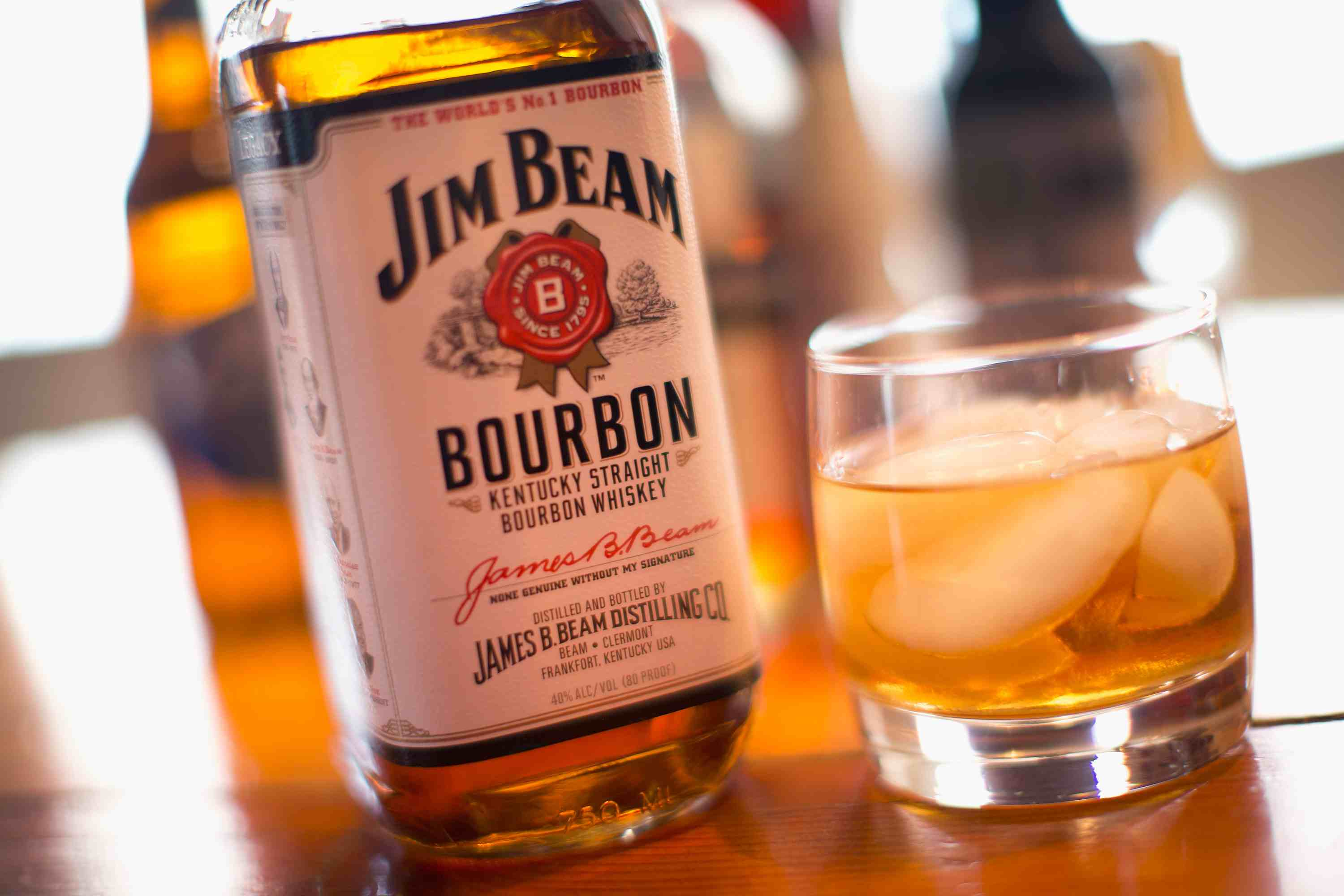 Jim Beam White Label Bourbon Whiskey