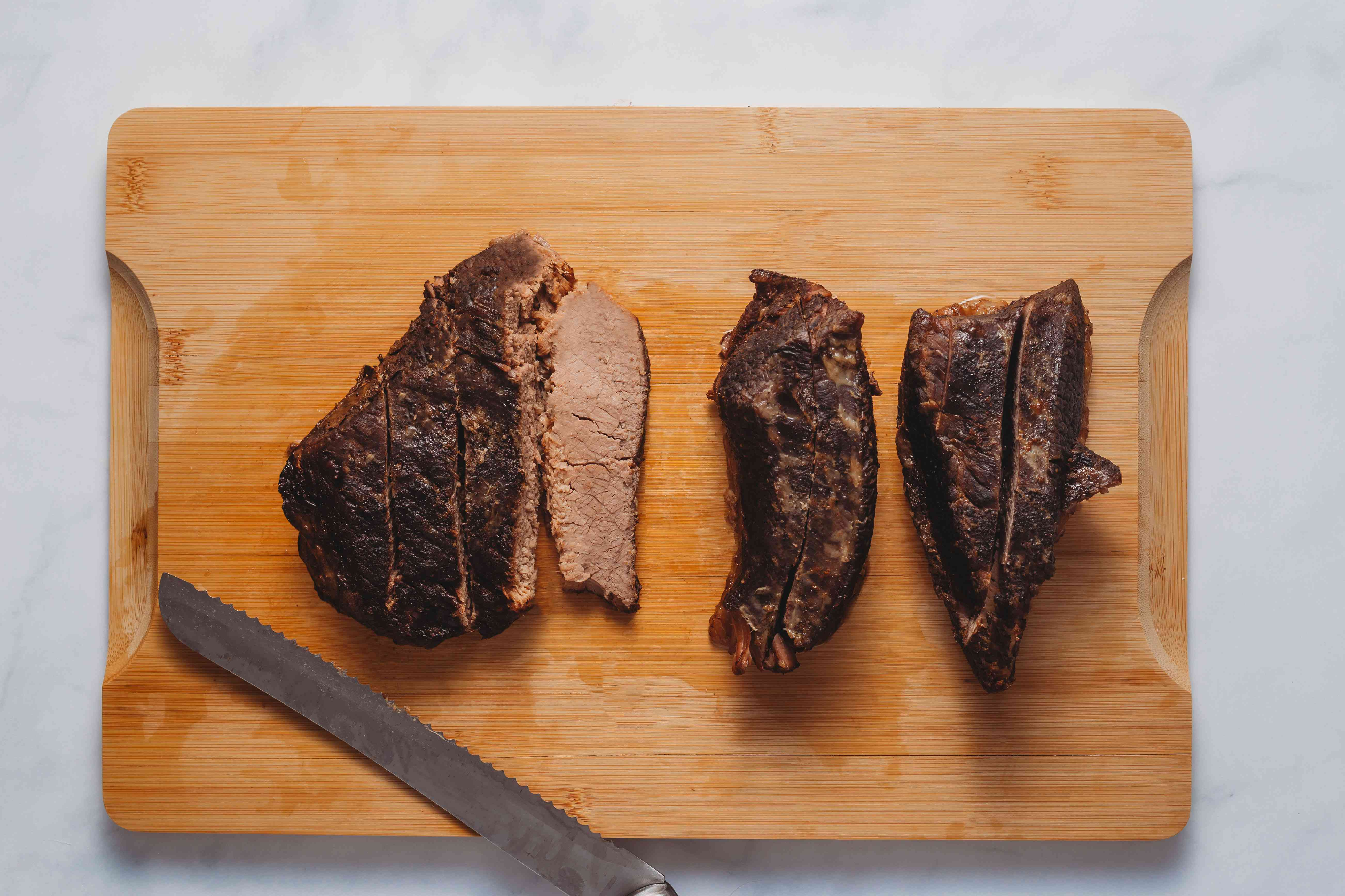 Slow Cooker Beef Brisket on a cutting board