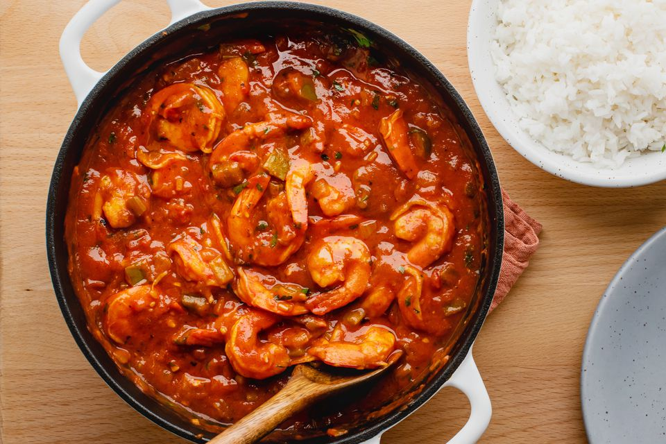 Classic shrimp creole with rice recipe