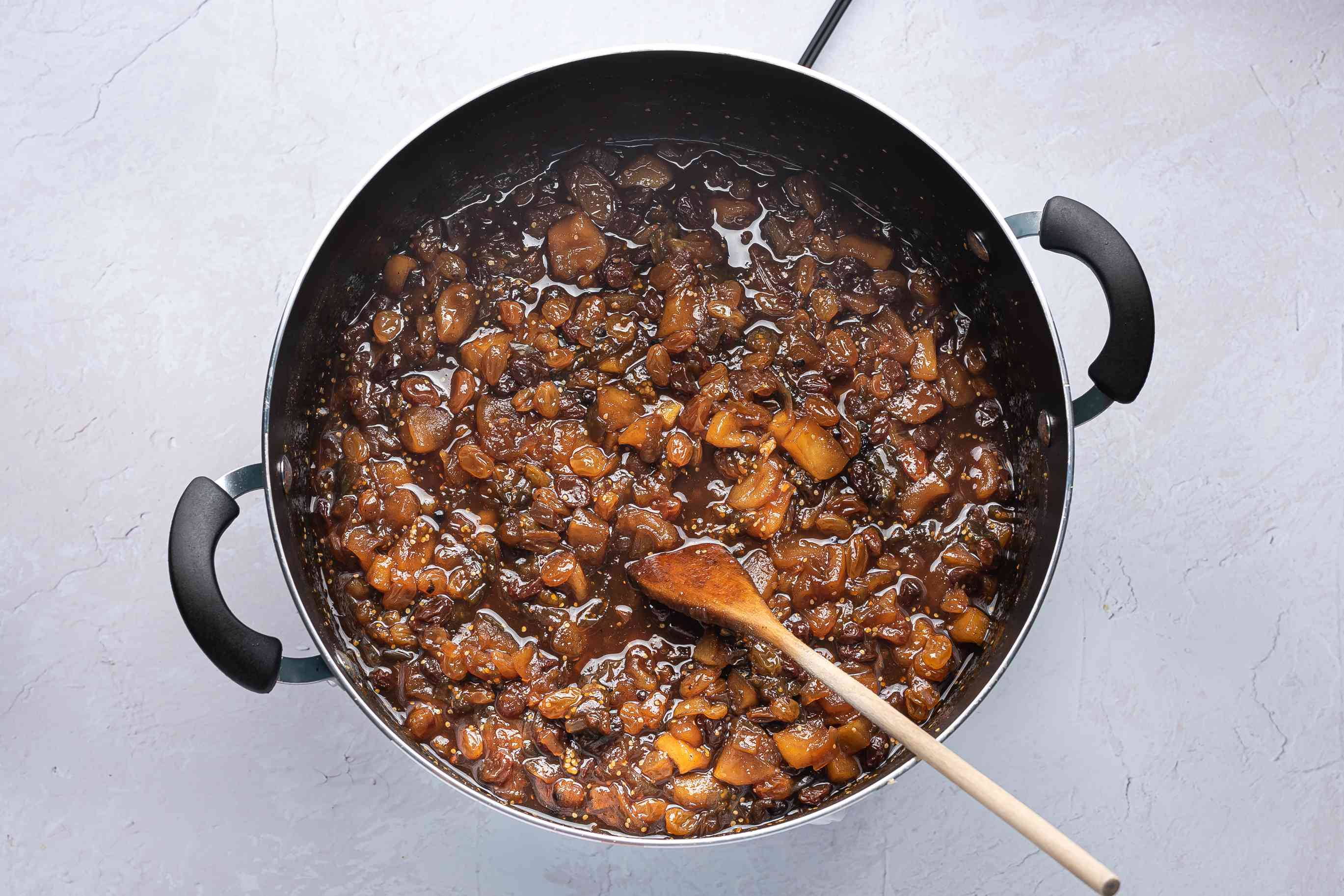 chutney cooking in a pot