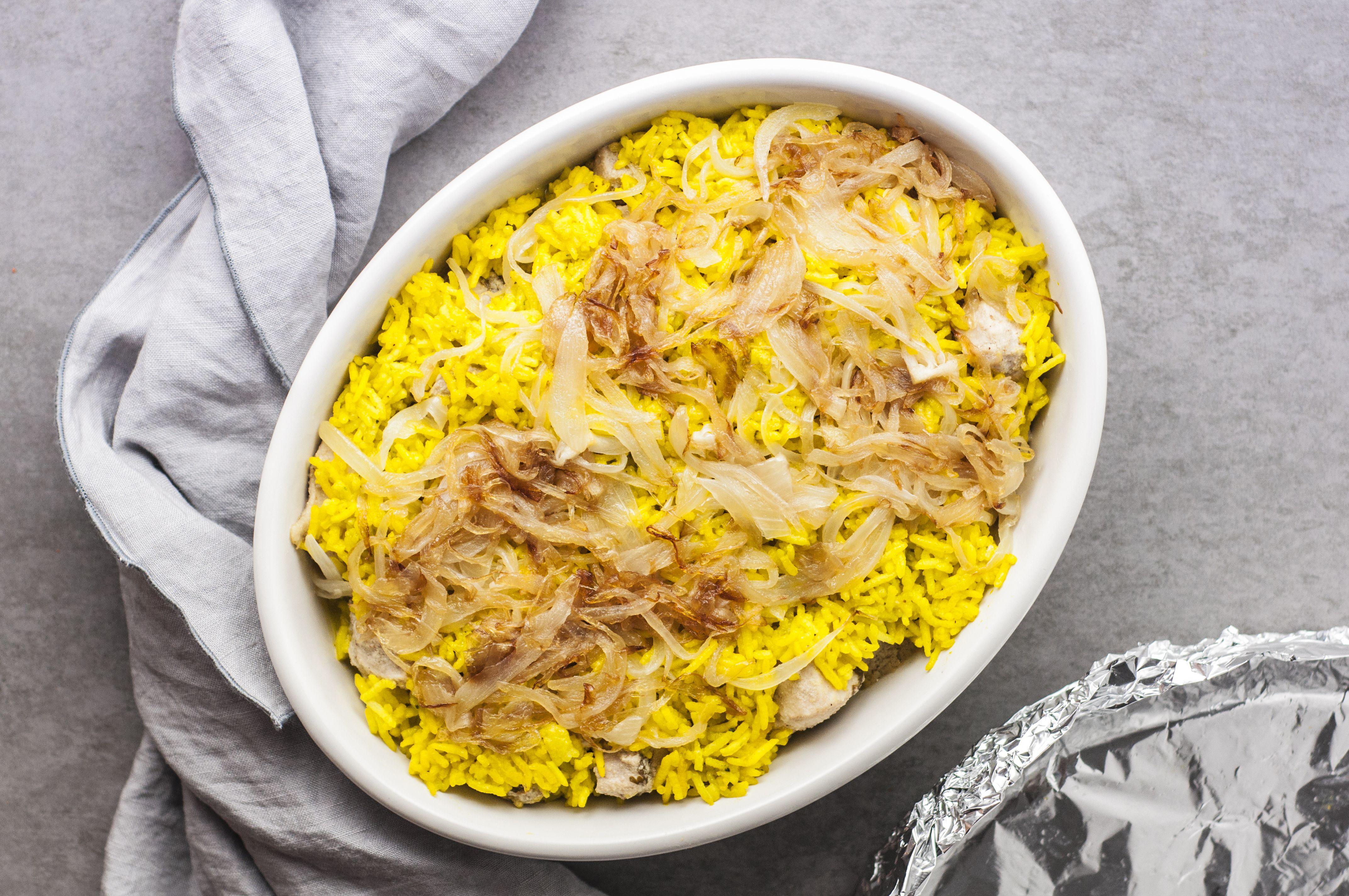 Cooked mughlai biryani