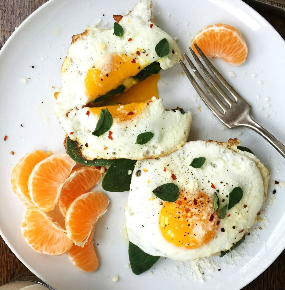 English Muffin Fried Egg Breakfast Pizzas