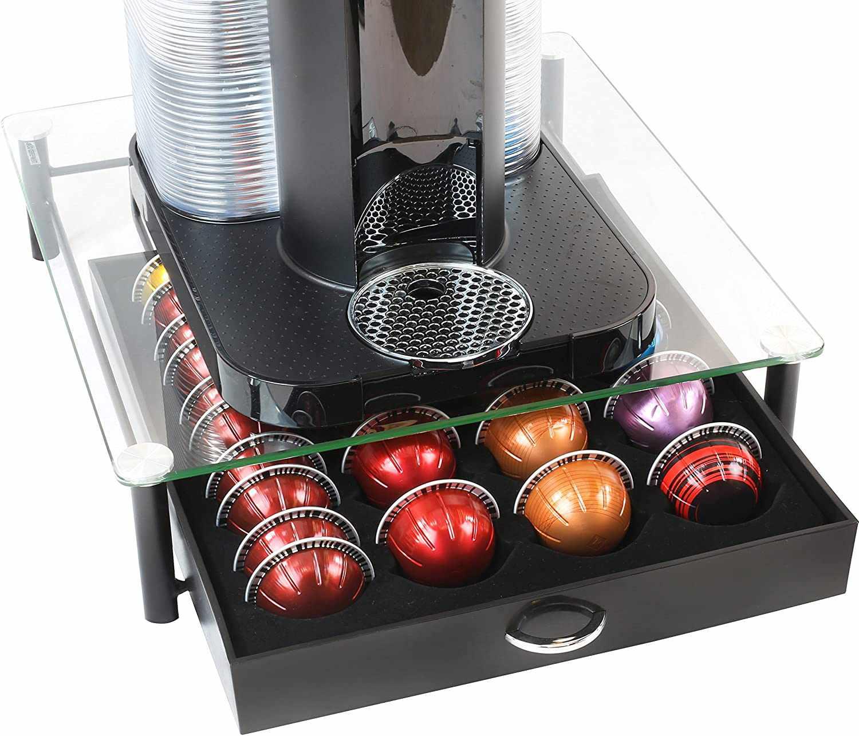 DecoBros Tempered Glass Nespresso VertuoLine Storage Drawer