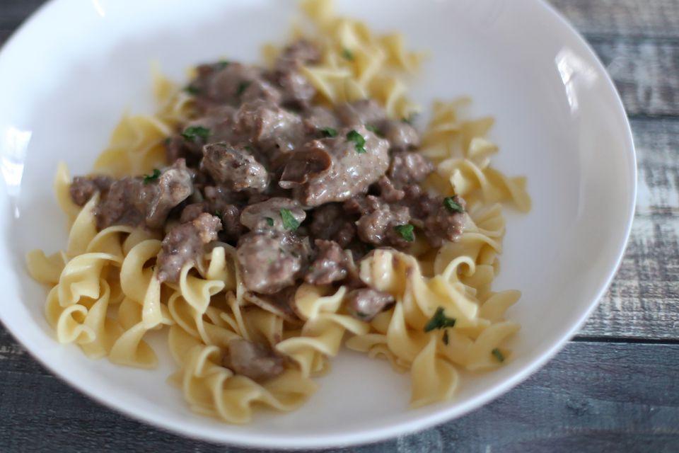 Beef Stroganoff, Slow Cooker
