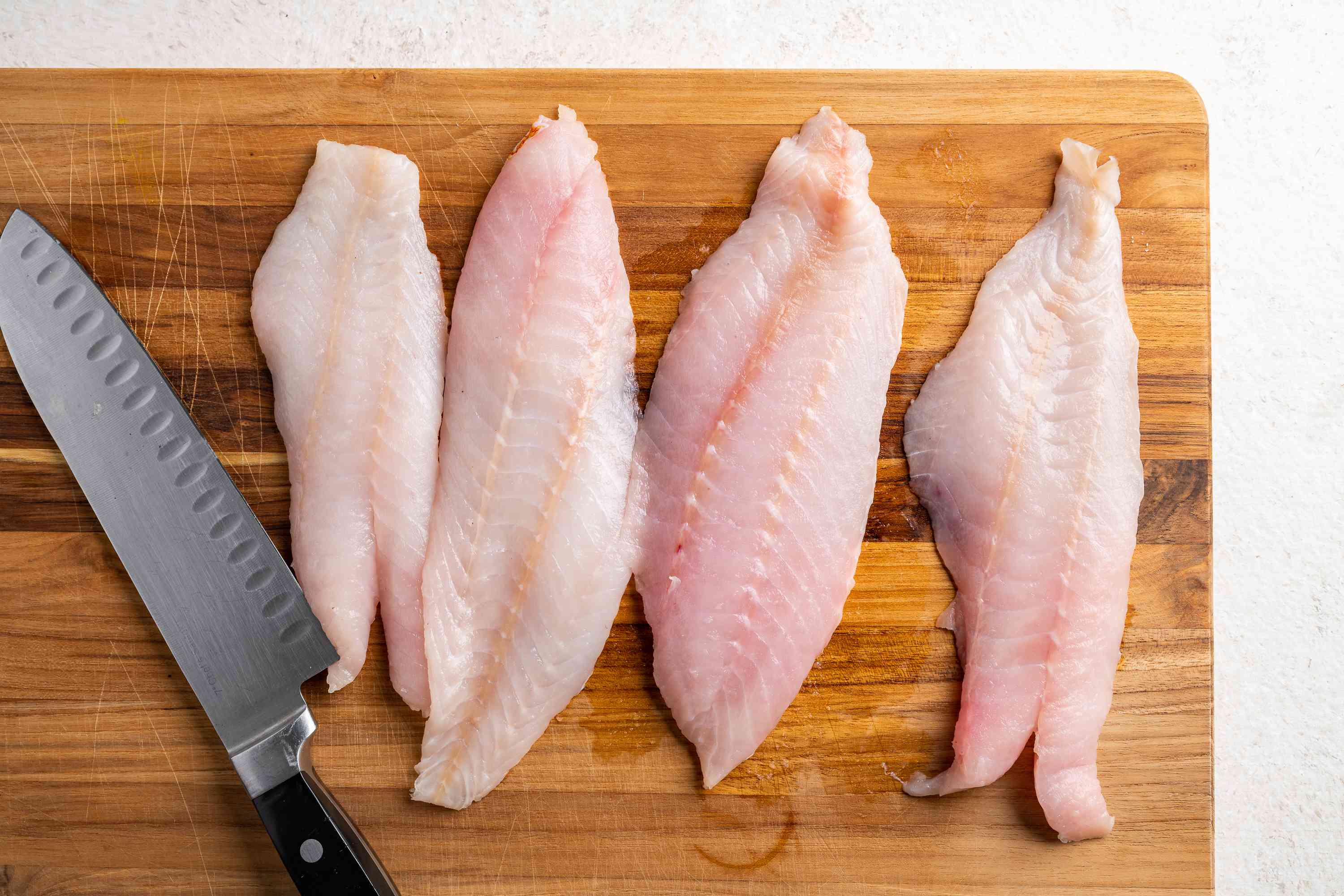 cut the fish into long pieces
