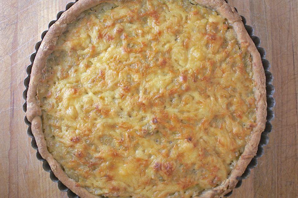 Receta de tarta de puerro y queso salado
