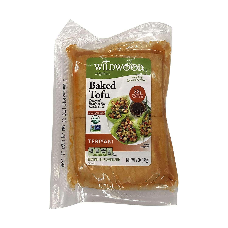Wildwood Teriyaki Organic Sprouted Soybeans Baked Tofu, 6 Ounces