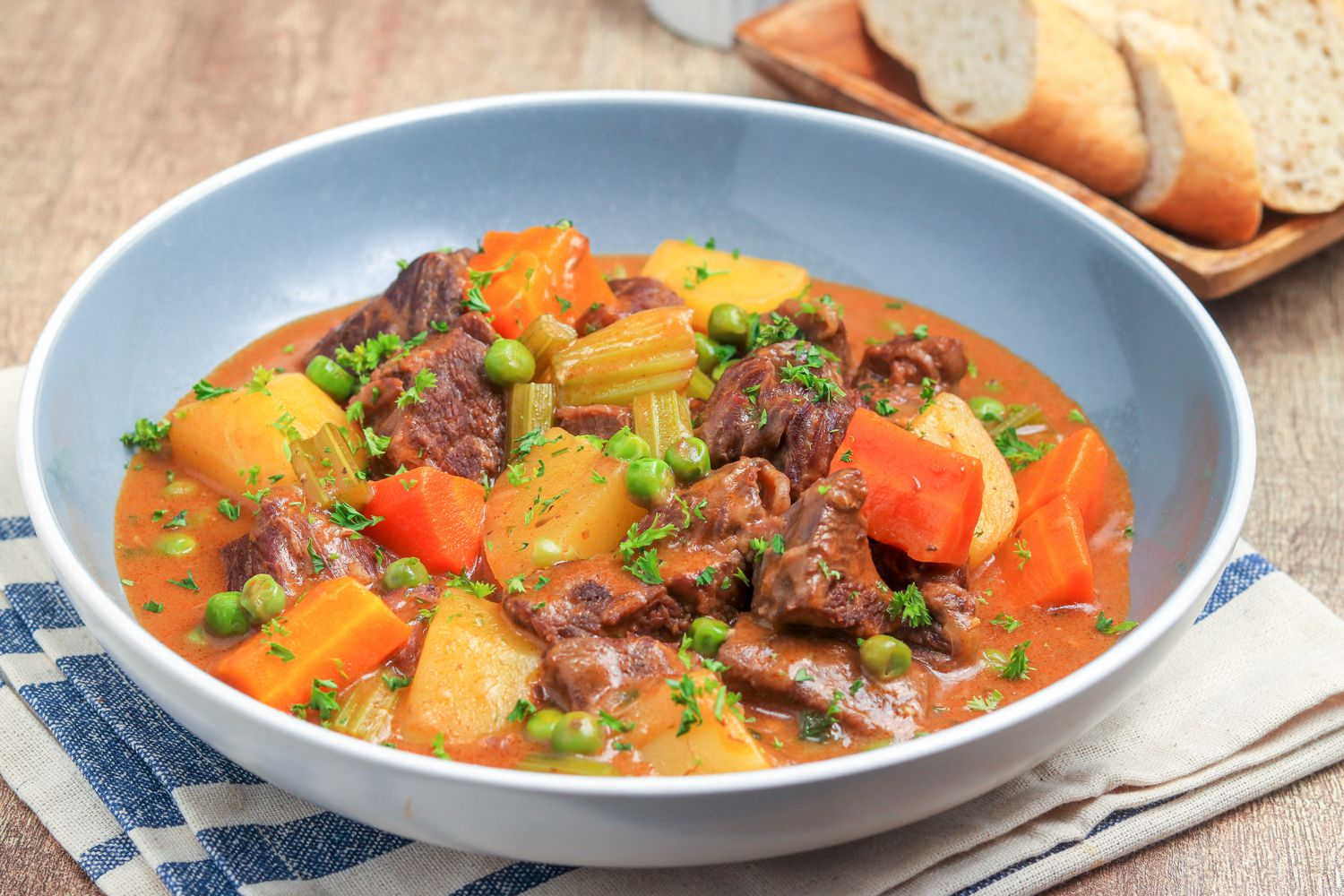 Oven Braised Beef Stew Recipe Made With Beef Chuck
