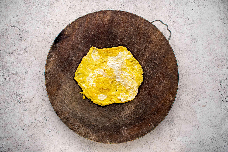 egg on a cutting board