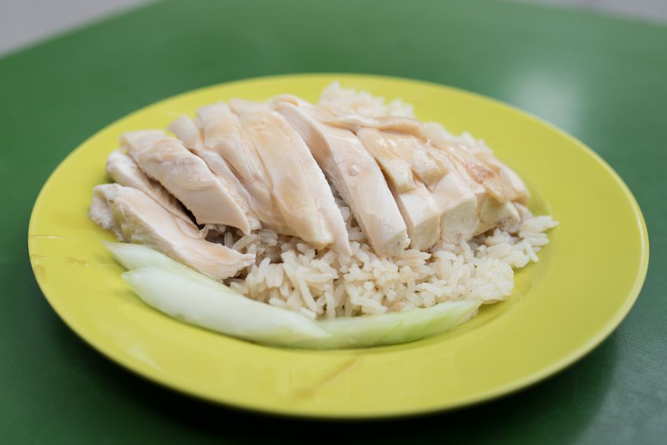 Famous Hainanese Chicken Rice For Lunch in Singapore