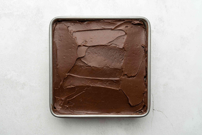 Wacky Chocolate Cake in a baking pan