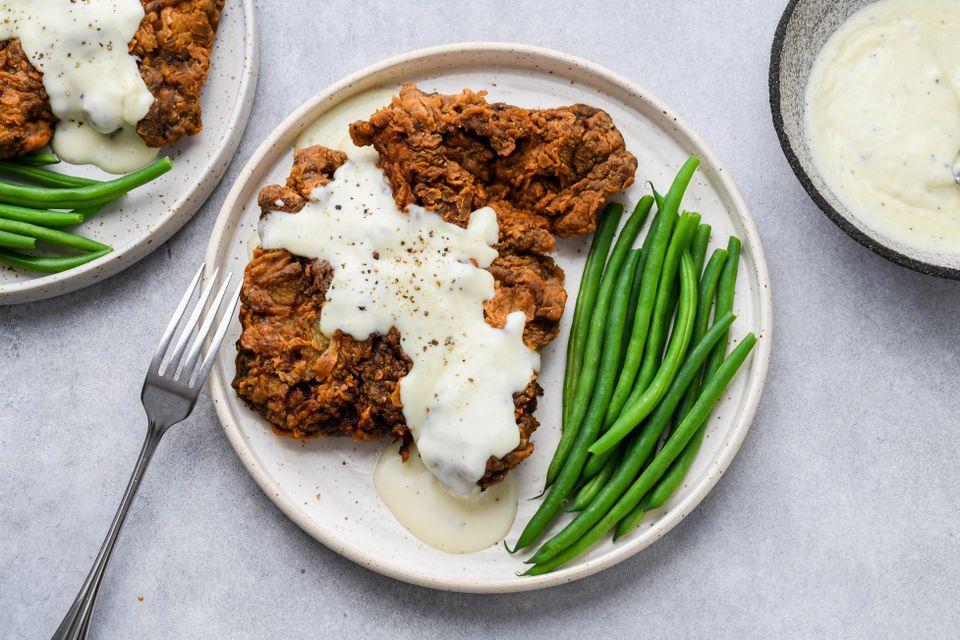 Chicken-Fried Steak With White Gravy