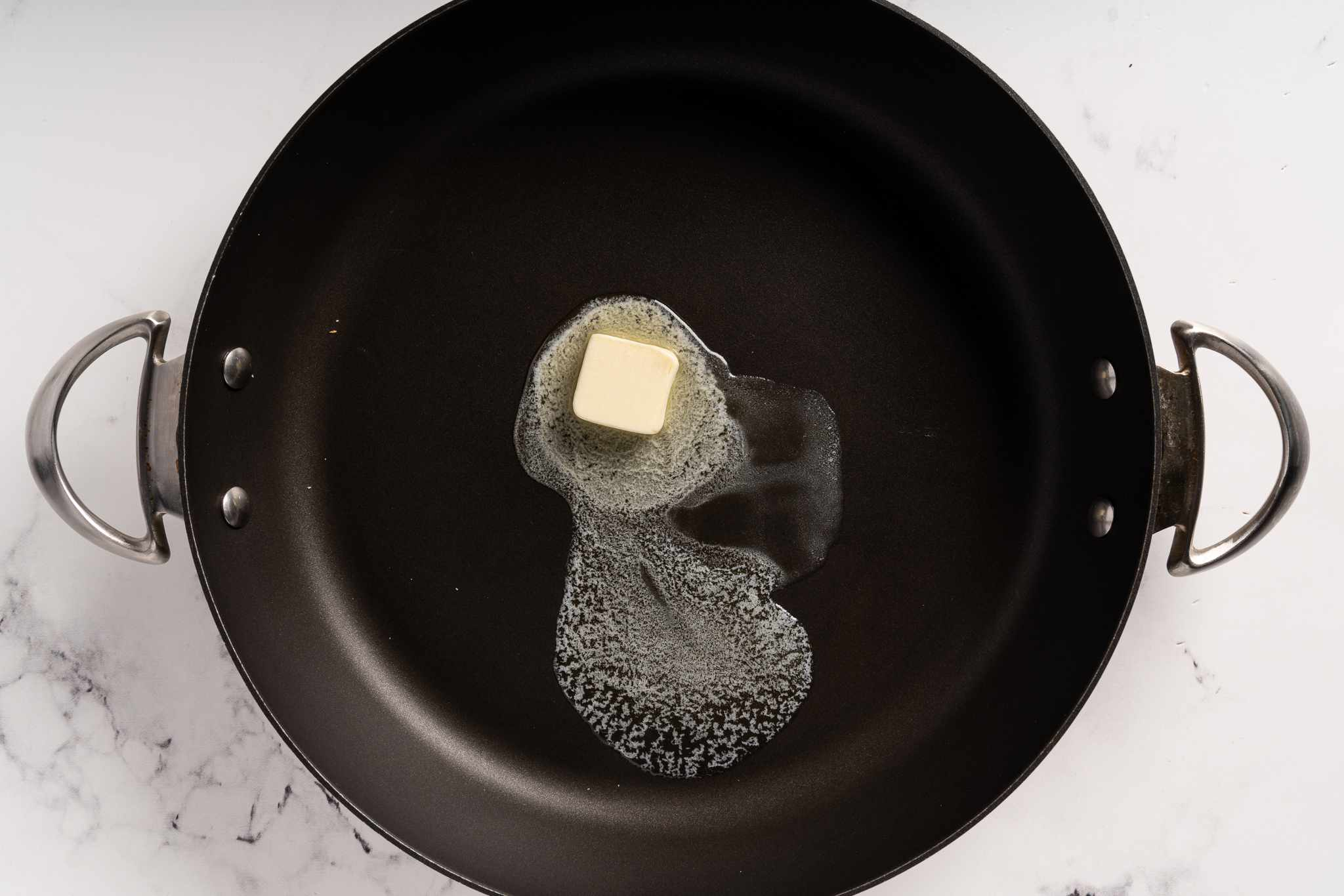 butter in a pan