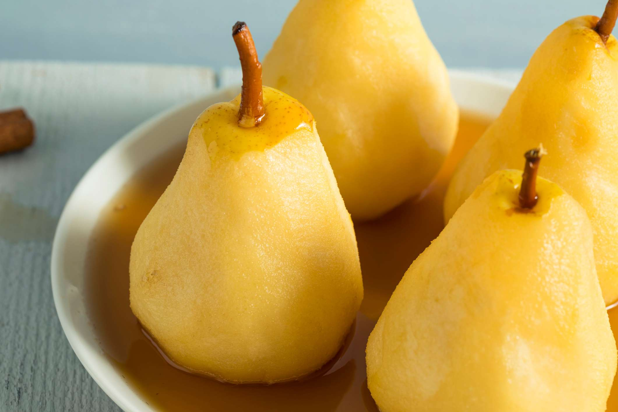 Grilled White Wine-Poached Pears Dessert