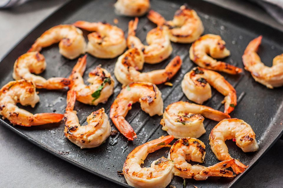 Grilled Jumbo Shrimp With Lemon-Herb Marinade