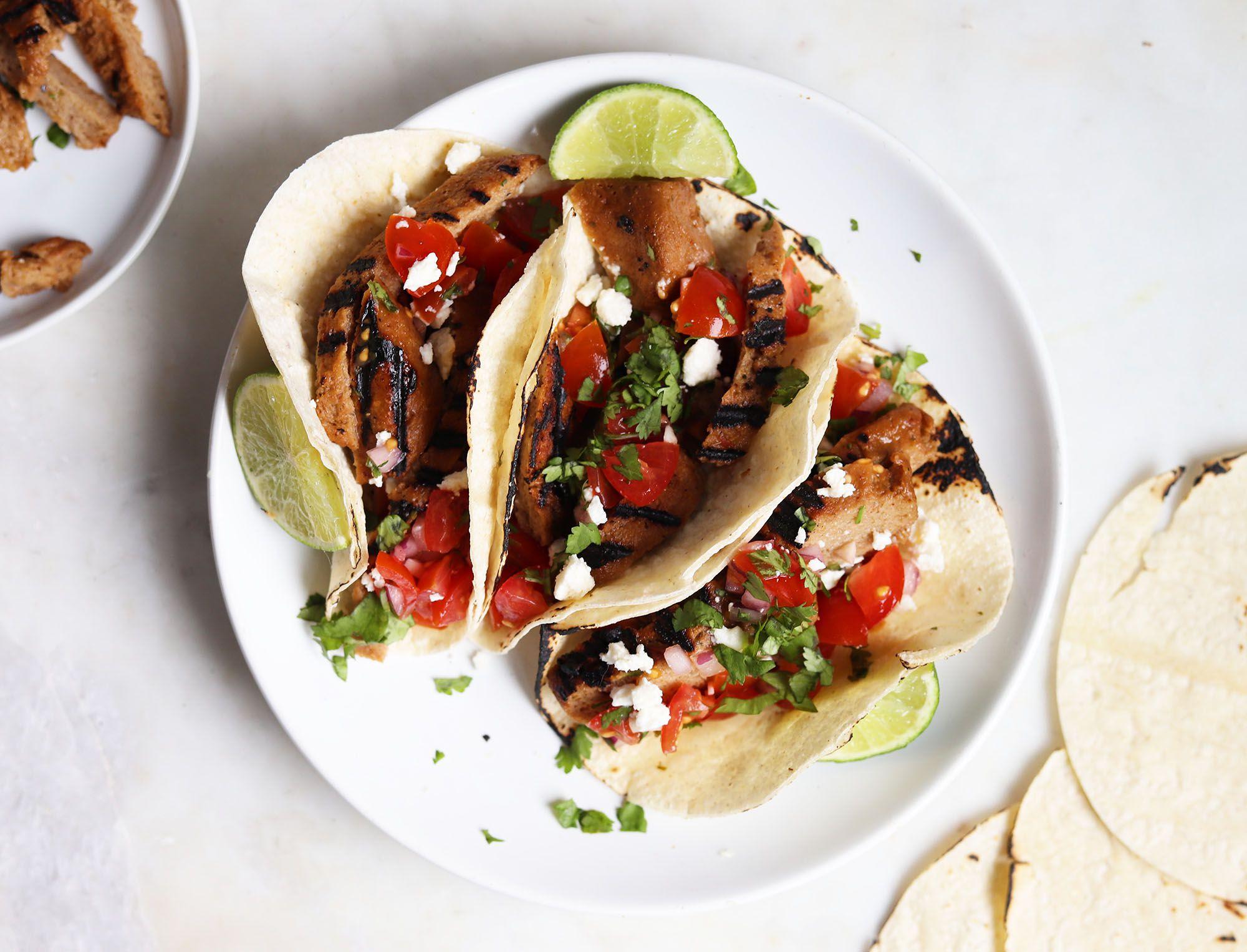 Seitan Takes These Carne Asada Tacos to the Vegan Side