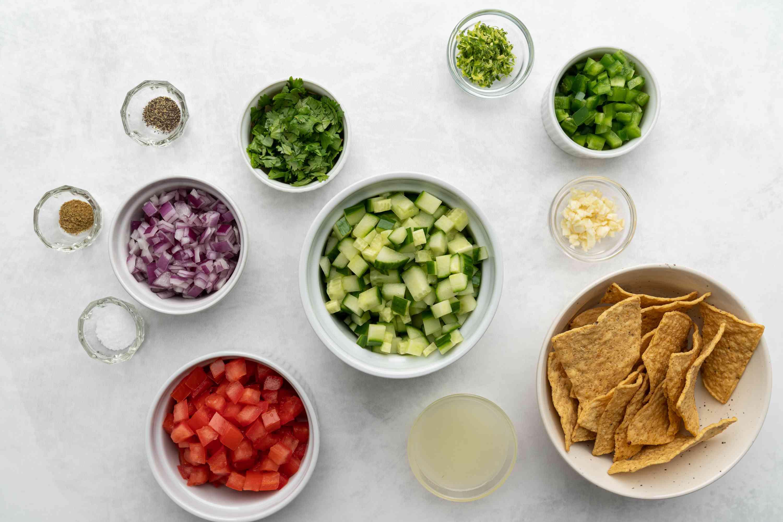 Cucumber Salsa ingredients