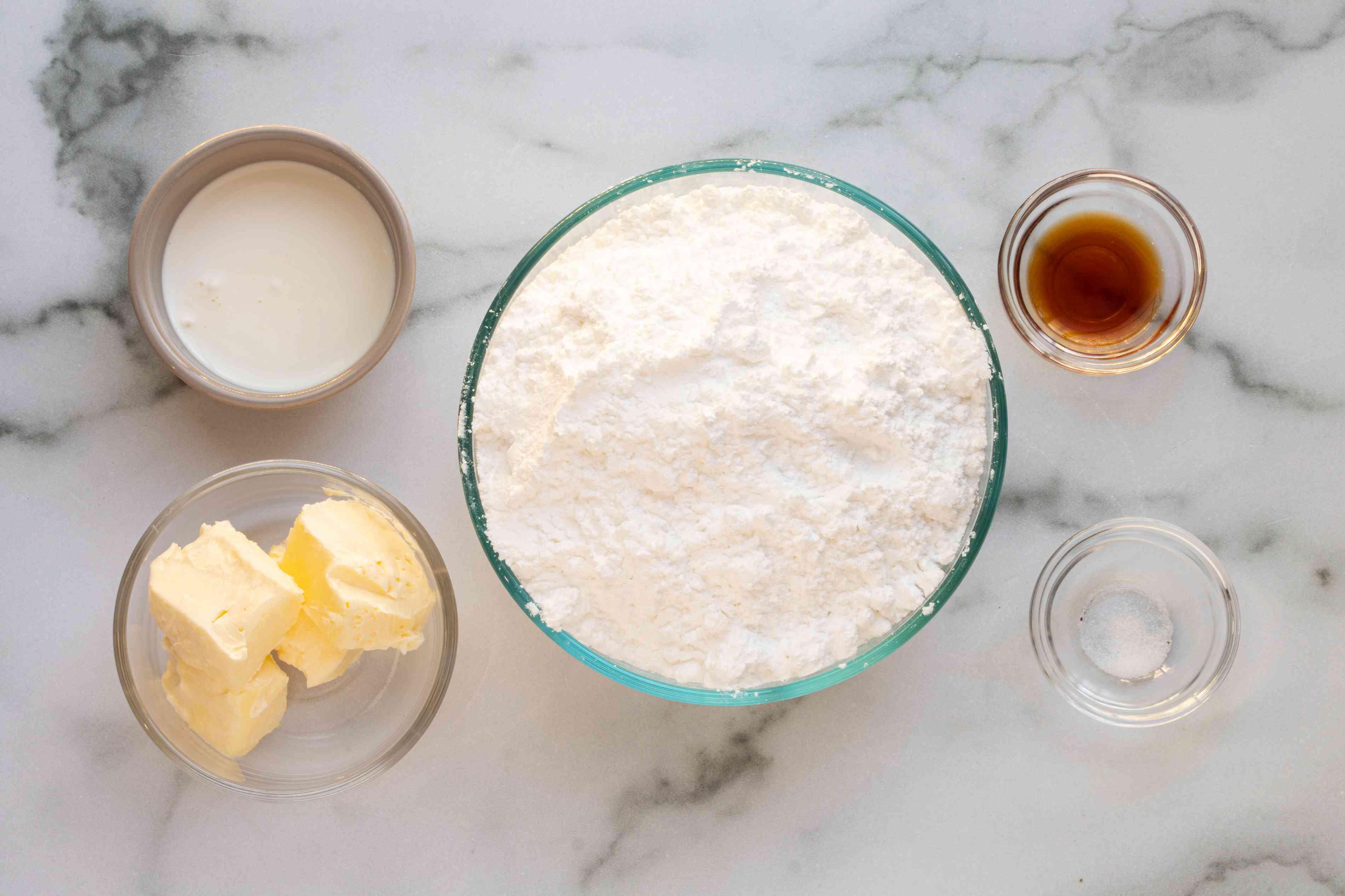 ingredients for sugar cookie frosting
