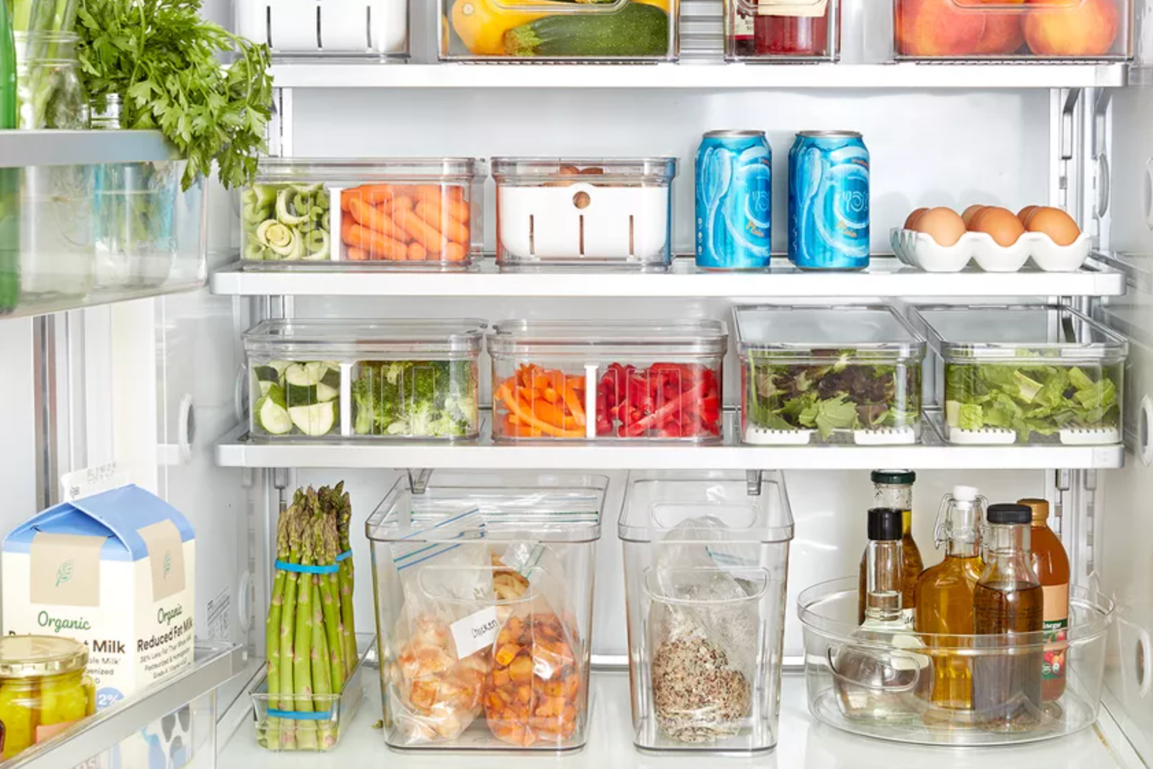4 Pcs Refrigerator Organizer Drawer Freezer Crisper Egg Storage Holder