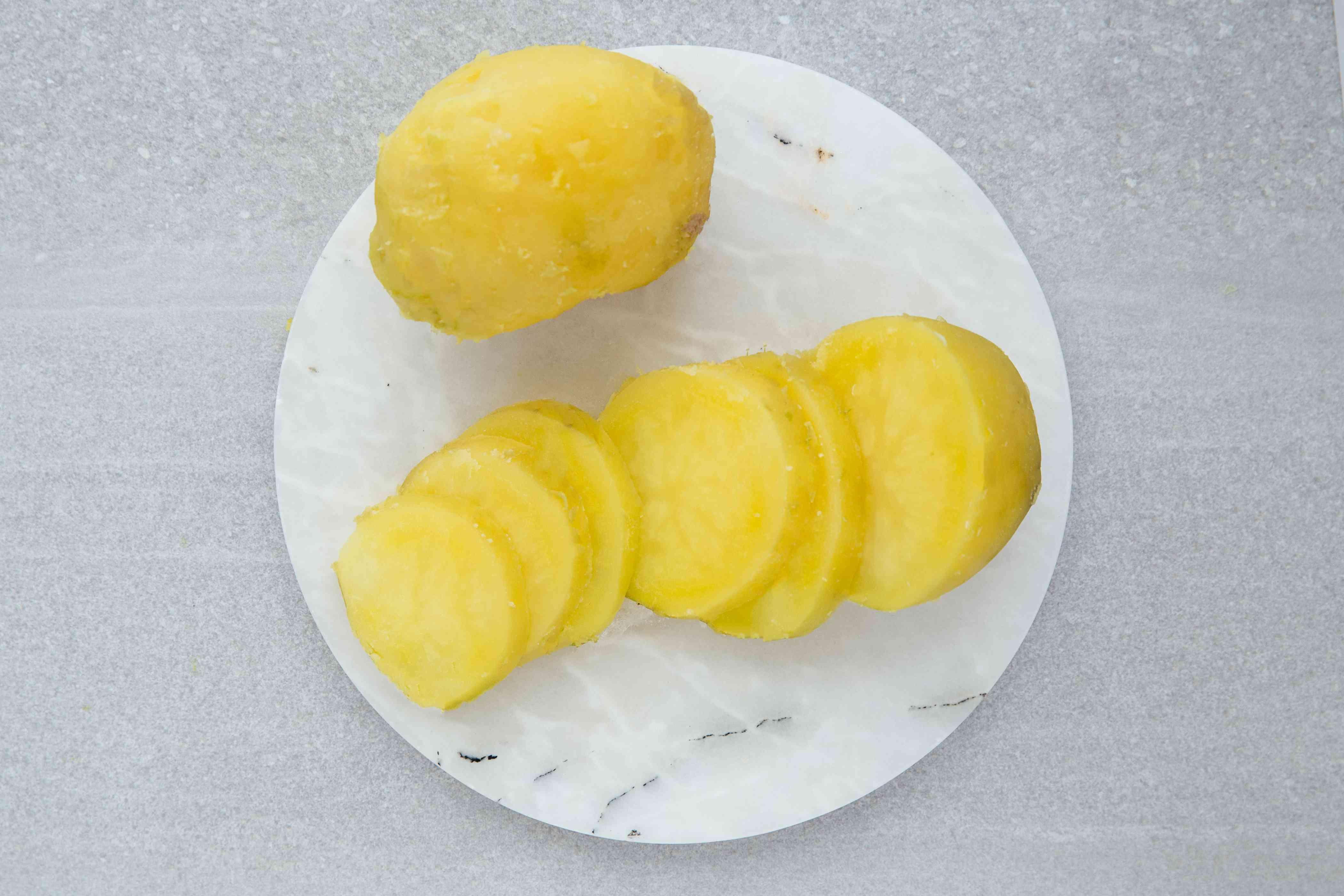 potatoes cut into pieces