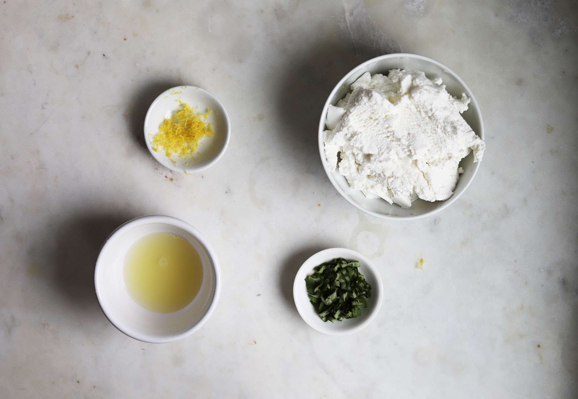 herbed ricotta ingredients